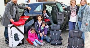 Mehr Sicherheit für Flüchtlingskinder Kindersitze für Flüchtlingshelfer