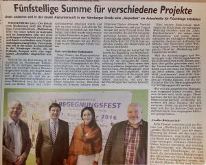 Auch das Weißenburger Tagblatt berichtete darüber